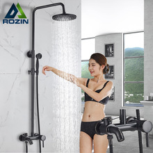 Faucet Shower-Set Bath Rain Spout Brass Luxury with In-Wall