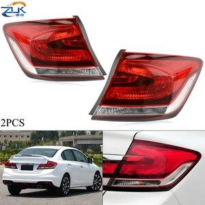 ZUK пара автомобиля снаружи хвост светильник для HONDA CIVIC 2014 2015 FB2 FB6 задний стоп-сигнал и сигнал поворота комбинированный фонарь светильник ...