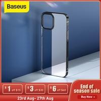 Baseus-funda de teléfono para iPhone 12 Pro Max 12Max, carcasa transparente chapada, delgada, suave, trasera de TPU para iPhone 12Pro Max