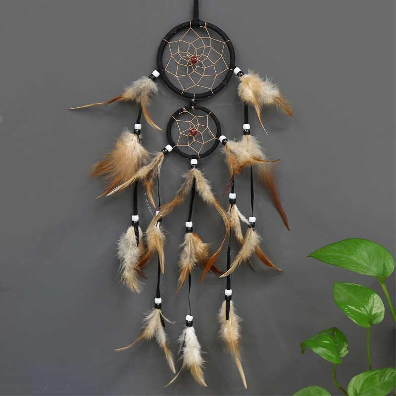 Винтажное украшение для дома ретро перо Ловец снов перья настенные подвесные Ловцы снов ткачество Декор подарки для автомобиля декор комнаты