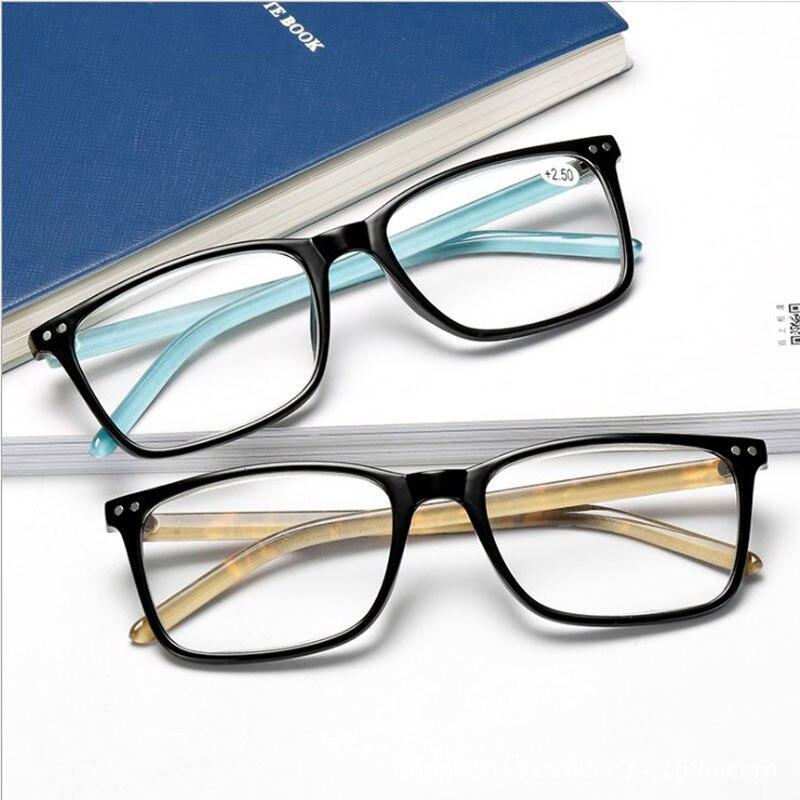 Feishini 2019 New Fashion European Version Of Elastic Paint Reading Glasses Men Diopter Presbyopic Eyeglasses Women Square