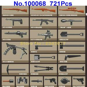 Image 3 -  721pcs ww2 military germany tank military world war ii tank 2  soldier weapon army building blocks Toy