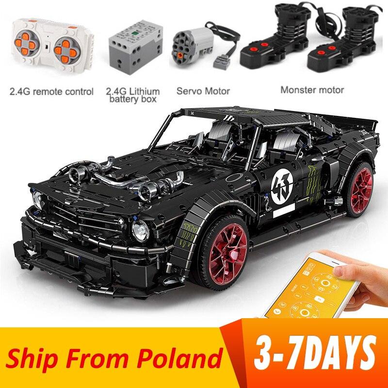 RC Mustang Hoonicorn RTR V2 Technic Super Racing Car With Motor building blocks