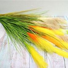 5 garfos reed grama flores artificiais para casa jardim sala mobiliário decoração falso flores festa de casamento decoração