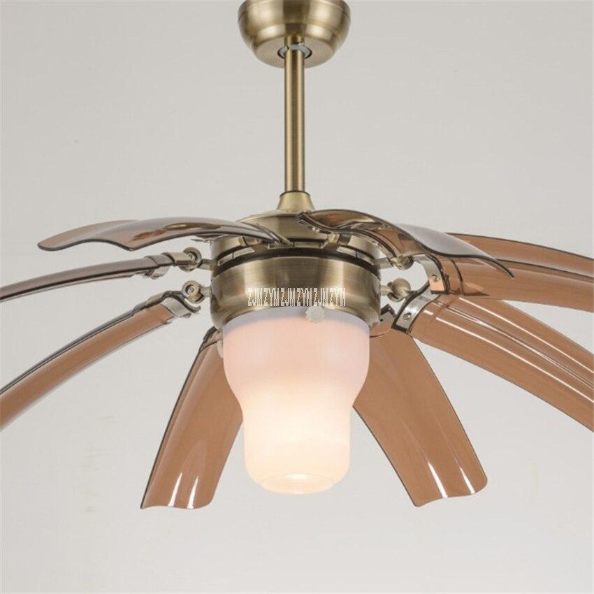 0516 42 polegada luz branca controle remoto criativo led invisível ventilador de teto luz sala estar pingente dobrável ventilador com luz 220 v