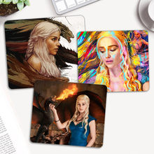 Daenerys Targaryen Gaming Mouse Pad Komputer PC Gamer Mousepad Keyboard Nirkabel Mouse Tikar Notebook Laptop Tikus Tikar(China)