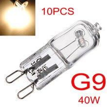 10pcs/lot G9 40W Halogen Light Bulb Long Life Capsule Lamp Warm White Clear Bulbs 360 Degree Home Lighting