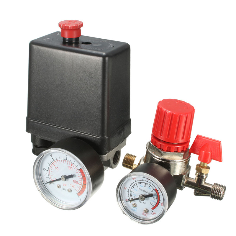 Image 5 - 7.25 125 PSI Small Air Compressor Pressure Switch Control 15A 240V/AC Adjustable Air Regulator Valve Compressor Four Holes-in Switches from Lights & Lighting