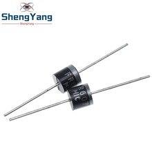 10 sztuk FR607 6A 1000V szybkie odzyskiwanie diody