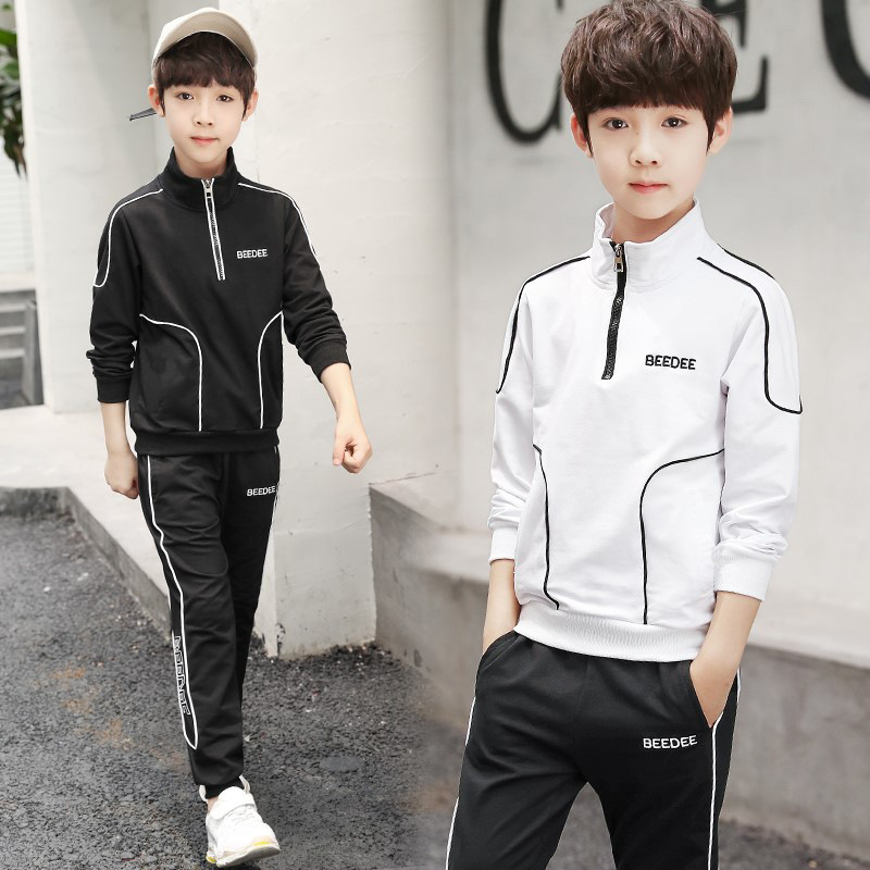Active Spring Autumn Boy Clothes Set Fashion Kids Suit New Children Long Sleeve Coat Pants 2pcs Sports Clothing For Boys Outfits spring outfits for kids