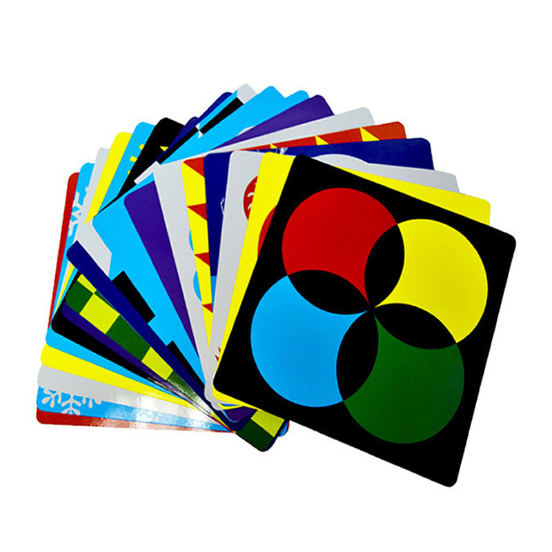 Baby Color Cards For Visual Training Educational Learning Cards For Kids 0-18 Moths 21cm*21cm Early Childhood Toys