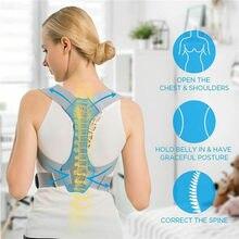 Corrector ajustável da postura do straightener traseiro para homem feminino, correia de apoio do ombro da coluna da clavícula, estudante/adultos/unissex