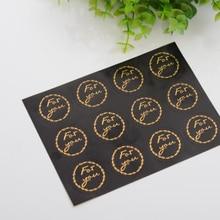 120pcs/lot Round  for You Bronzing Black Handmade Cake Packaging Sealing Label Sticker Baking DIY Party Gift Box Stickers