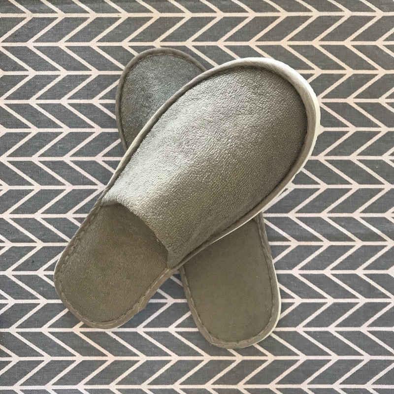 Nam Nữ Unisex Dùng Một Lần 1 Đôi Spa Khách Sạn Khách Dép Giày Du Lịch Dùng Một Lần Vải Không Dệt Dép