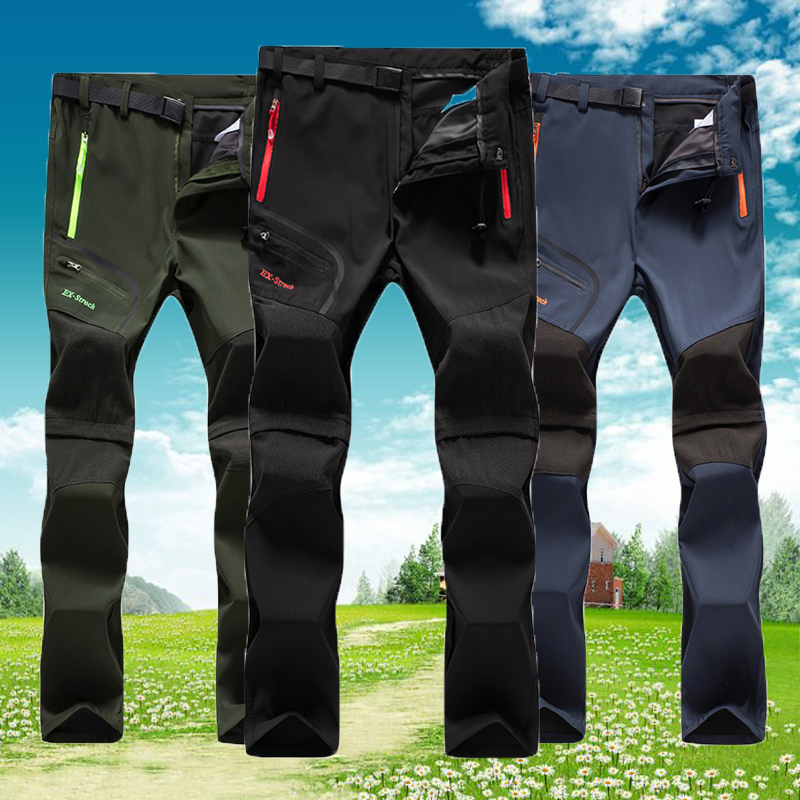 2020 New Men Hot Days fishing Running Man climbing camping pants Detachable Trekking Hiking Oversized Quick Dry Trousers Male image