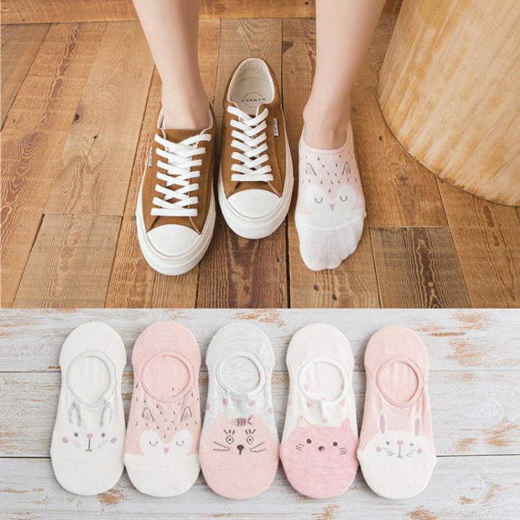 Colorful Fruit Invisible Short Woman Sweat Summer Comfortable Cotton Girl Women's Boat Socks Ankle Low Female 5pair=10pcs X111