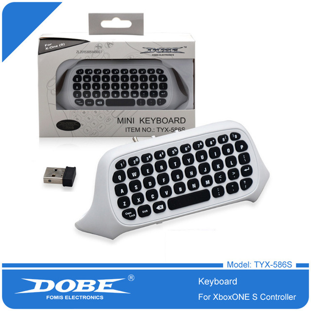 For Xbox One S Chatpad Mini Gaming Keyboard Wireless Chat Message KeyPad with Audio/Headset Jack for Xbox One Elite & Slim Gam 2