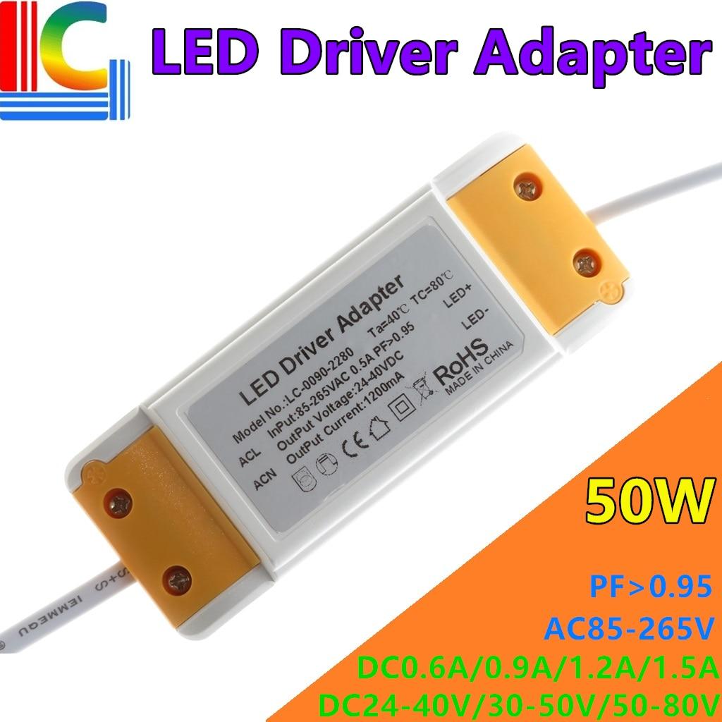 18W 30W 36W 42 Вт 48 Вт 50 Вт светодиодный Панель светильник драйвер адаптер AC85-265V Мощность поставить 300mA 600mA 1050mA 1200mA 1500mA трансформатор постоянного т...