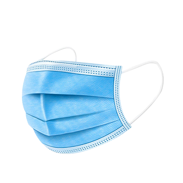 50 dust-proof disposable masks with elastic earrings 3 layers of breathable can block dust air pollution anti flu 3