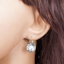Kolczyki damskie 2020 Boutique Solid Crystal Ladies Girls dzień ślubu akcesoria sukienka biżuteria wiszące kolczyki # Y5 tanie tanio Ze stopu cynku CN (pochodzenie) Klasyczny Moda Earrings Spadek kolczyki ROUND Z tworzywa sztucznego Kobiety women s earrings