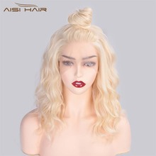 I's a wig 13x4 Synthetic Lace Wigs 613 Color Short Wavy Fron