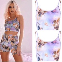 Stock Local 2019 moda mujer Chaleco con estampado de Ángel sujetador blusa superior con estampado de Boob Tube Strappy Bandeau elástico(China)