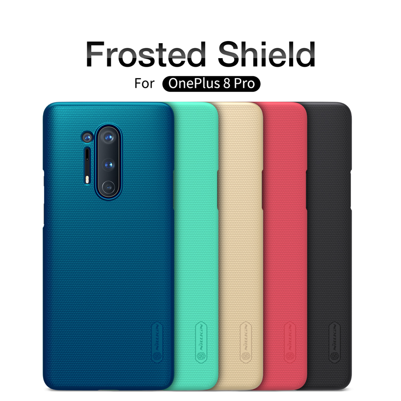 Case For oneplus 8 Pro Cover One plus 8 NILLKIN Super Frosted Shield Matte PC back cover case for Oneplus 8 Pro gift holder(China)