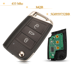 Image 1 - Kutery 3 Buttons Smart Remote Car Key No Keyless GO Fob 433Mhz MQB 5G0959752BB For VW Seat Golf7 MK7 Touran Polo Tiguan