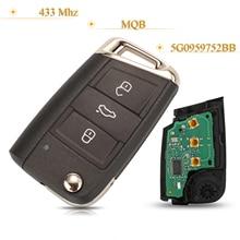 Kutery 3 Tasten Smart Remote Auto Schlüssel Keine Keyless GEHEN Fob 433Mhz MQB 5G0959752BB Für VW Sitz Golf7 MK7 touran Polo Tiguan