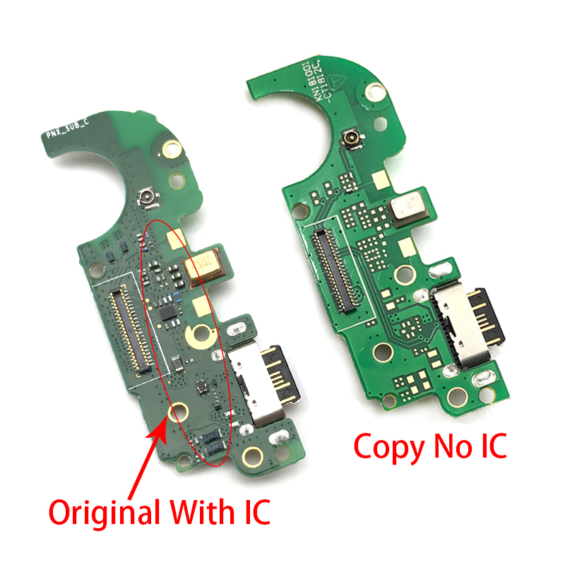 Dock Connector Micro USB <font><b>Charger</b></font> Charging Port Flex Cable Microphone Board For <font><b>Nokia</b></font> <font><b>8.1</b></font> X7 Repair Parts image
