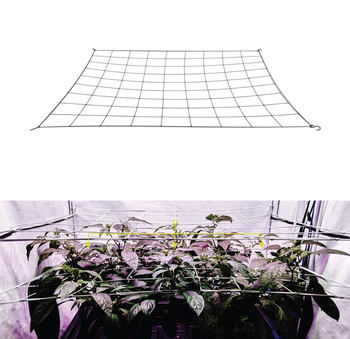4'' Mesh Trellis Netting Plant Support Elastic ScrOG/ LST/ HST Net with Hooks for Indoor Grow Tents Box Kit Low Stress Training