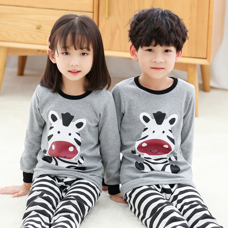 Image 3 - Children pajamas children boys baby clothing kids girls sleepwear  clothing set baby long sleeve home clothing for pyjamas kidsPajama Sets   -