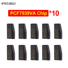 10 adet/grup araba anahtarı çip PCF7939VA boş Transponder çip