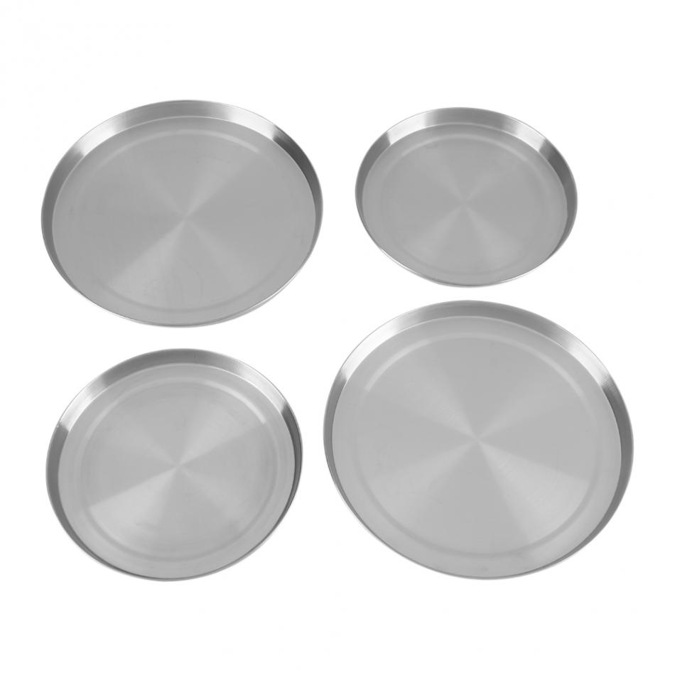 4Pcs/Set Stainless Steel Kitchen Stove Top Covers Burner Round Cooker Protection Kitchen Cookware Cover Lid Cooking Tool|Tea Tureen| |  - title=