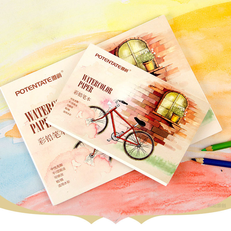 230g/m2 Aquarelle Painting Watercolor Paper 12 Sheet Hand Painted Paint Water Color Book Pad Art Supplies A5/A6 Size Pencil Book