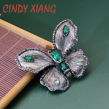 цена на CINDY XIANG Rhinestone Vintage Butterfly Brooches for Women Elegant Insect Pin Brooch