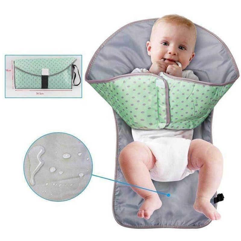 Infantil dobrável urina tapete 3-em-1 multifuncional portátil à prova dnappágua fralda fralda mudando almofada pi669