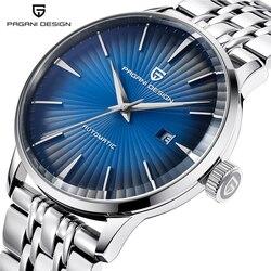 PAGANI DESIGN Luxury Brand Men Watch Business automatyczne mechaniczne zegarki wodoodporna stal nierdzewna zegarek dla mężczyzn Relogio w Zegarki mechaniczne od Zegarki na