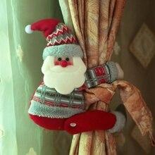 Рождественская Штора для дома, снеговик, штора с пряжкой, в форме лося, милый Санта Клаус, штора с пряжкой, праздничные вечерние принадлежности
