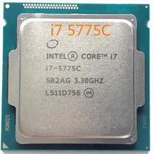 Envío Gratis Intel núcleo Original I7 5775C I7-5775C 3,3 GHz 14nm quad Core 65 W CPU para PC de escritorio procesador