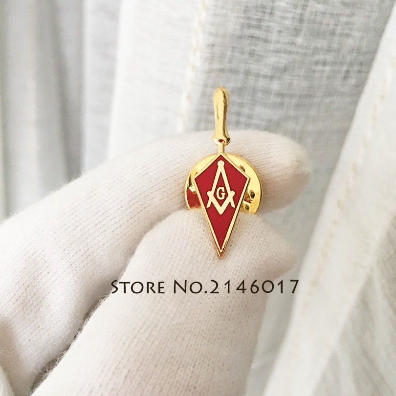 stainless steel pin stripes tools Masonic rings  Gold Color Freemason Ring