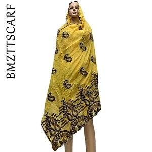 Image 1 - Yeni varış afrika kadınlar eşarp yumuşak pamuk nakış atkılar şal satış BM778