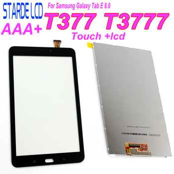 New For Samsung Galaxy Tab E 8.0 T3777 T377 Touch Screen Sensor Digitizer Glass Panel + LCD Display Screen Panel Monitor Repair new touch screen glass panel for nt620c st141 e nt620c st141 ek nt620c st142 repair