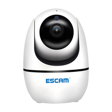 NEW ESCAM PVR008 Security Monitoring Camera Auto Tracking PTZ Camera 2MP 1080P Wireless WIFI IP Camera P6SLite
