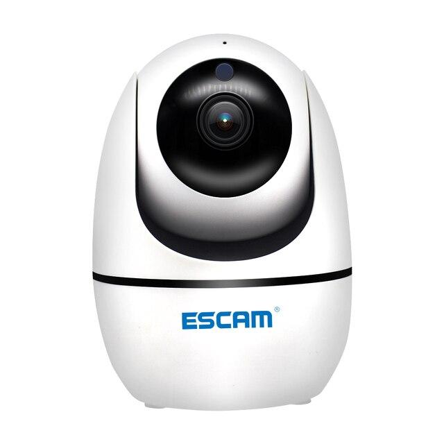 NEW ESCAM PVR008 Security Monitoring Camera Auto Tracking PTZ Camera 2MP 1080P Wireless WIFI IP Camera P6SLite