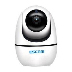 Nowy ESCAM PVR008 monitorowanie bezpieczeństwa kamera Auto śledzenia kamera PTZ 2MP 1080P bezprzewodowa kamera sieciowa wi-fi P6SLite