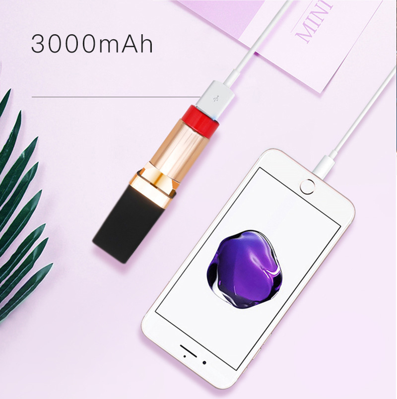 Mini Power Bank Cute Portable Charger Powerbank Mini Lipstick Fashion Power Bank Emergency Powerbank for Xiaomi iPhone LG Huawei in Power Bank from Cellphones Telecommunications