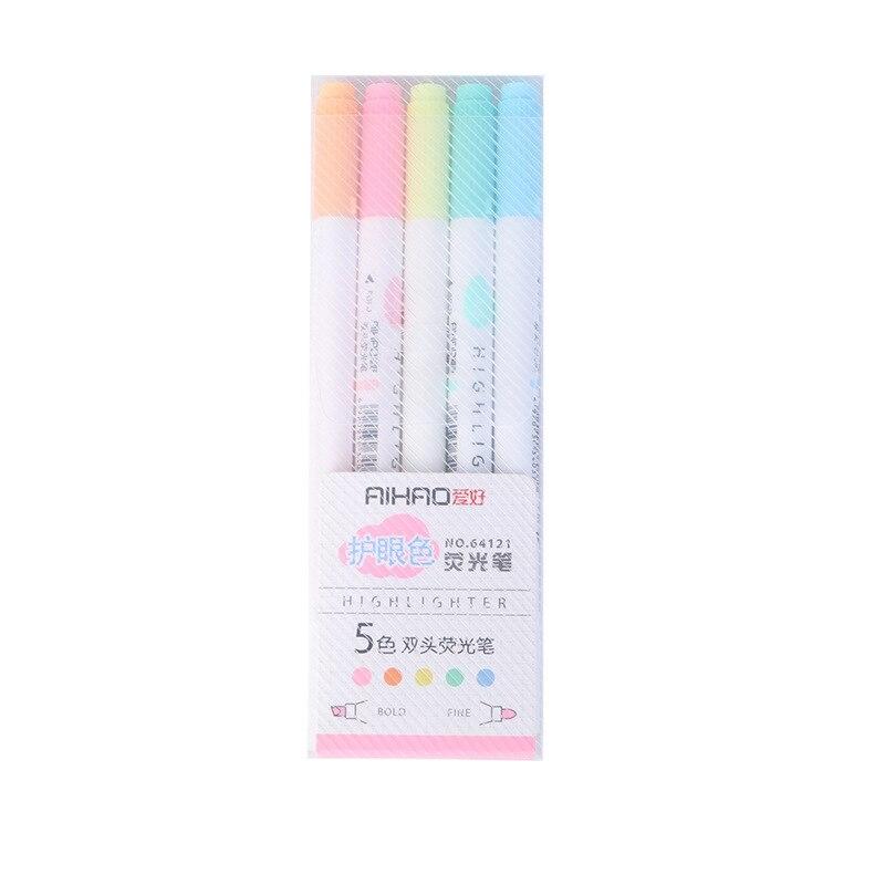 5 шт./лот цвет глаз двойной Bold тонкими концами) Milkliner красочные конфеты цветные маркеры рекламные маркеры подарочные канцелярские товары