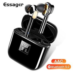 Image 1 - Essager 07B tws ワイヤレス bluetooth 5.0 イヤフォン指紋タッチ xiaomi 用ヘッドセットハンズフリー真のワイヤレス