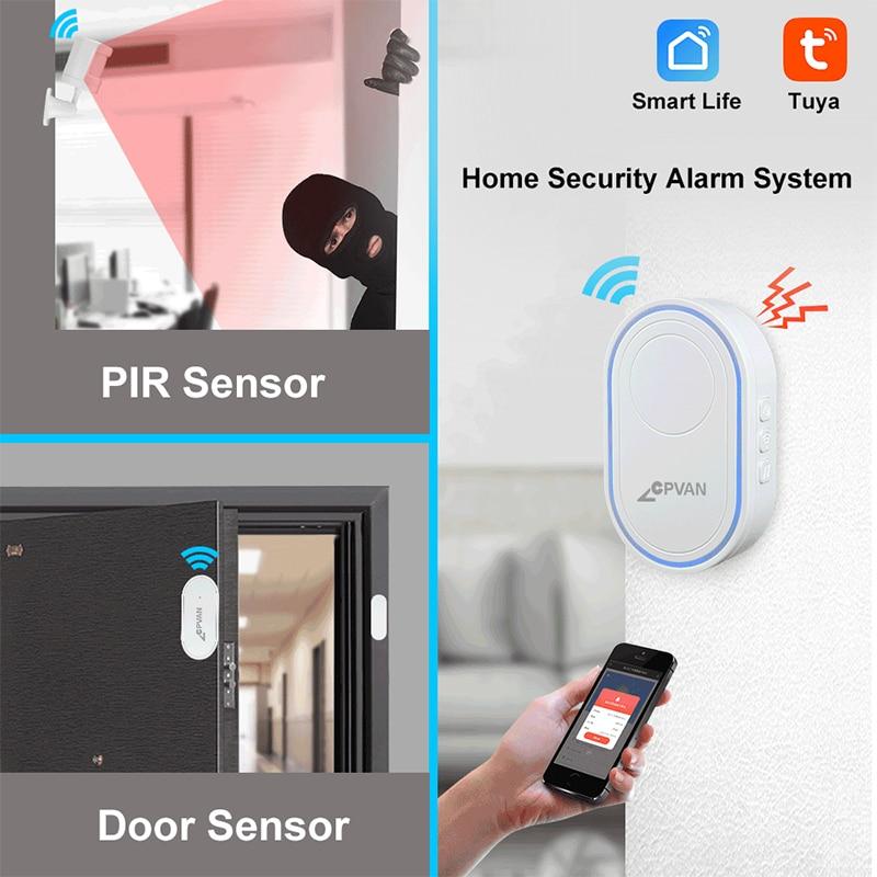 Hbdbc68c07f604c1ead780be7026ec34fa - CPVAN Wireless Doorbell Alarm System Smart WIFI Doorbell Strobe Siren Tuya App 58 Sound Compatible Home Security Alarm System